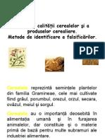 Controlul calităţii cerealelor şi a produselor cerealiere.Metode de identificare a falsificărilor