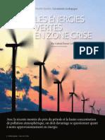 Les énergies vertes en zone grise