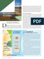 La problématique des cyanobactéries au Québec