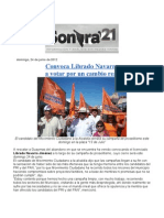 Convoca Librado Navarro a votar por un cambio real