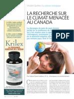 La recherche sur le climat menacée au Canada