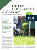Comment faire son propre compost à la maison