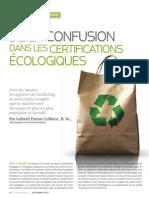 De la confusion dans les certifications écologiques