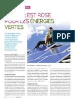 L'avenir est rose pour les énergies vertes