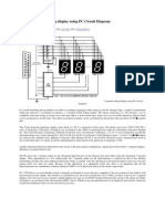 Audio 7 Segment Rolling Display Using PC Circuit Diagram