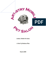 Artistry Mobile Pet Salon Business Plan A
