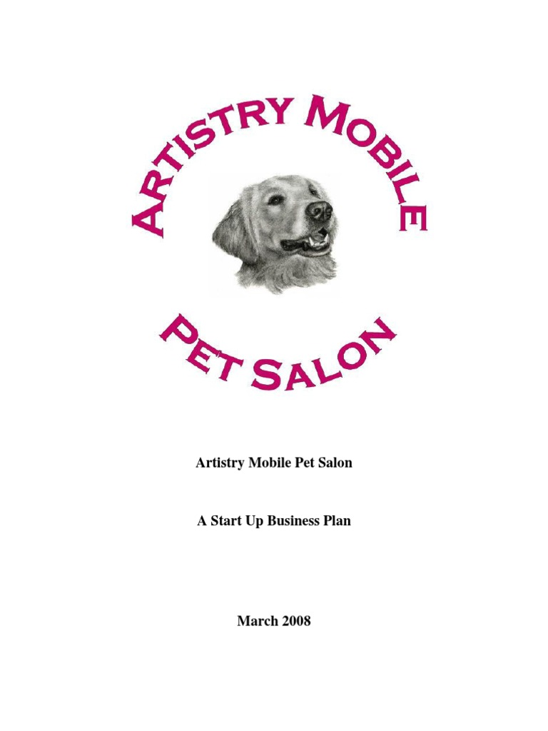 Artistry mobile pet salon business plan a golden retriever insurance solutioingenieria Image collections
