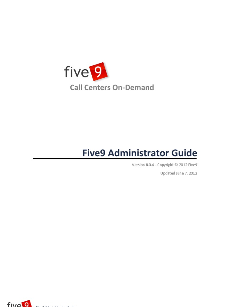 Five9 Administrator Guide Interactive Voice Response Speech