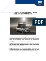 Dacia Lodgy Press Kit