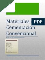 Materiales de Cementacion Convensional