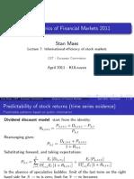 7Informational Efficiency of Stock Markets7