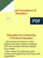 Historical Foundations of Education (calderon)