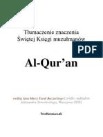 Polsko Koran - Quran - Koran - Polish - Polnisch