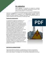 Contaminación radiactiva