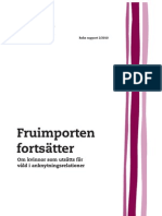Fruimporten Fortsatter Sweden on Human Trafficking Foreign Women for Domestic and Sexual Abuse