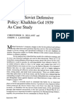 The New Soviet Defensive Policy Khalkhin Gol 1939 as Case Study