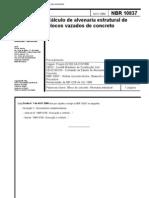 NBR 10837 - 1989 - Cálculo de Alvenaria Estrutural de Blocos Vazados de Concreto
