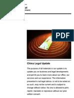 China Legal Update 2009