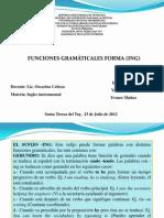 Funciones Gramaticales Forma (Ing)