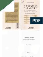 A PESQUISA EM ARTE - BY ALANA BRAUN