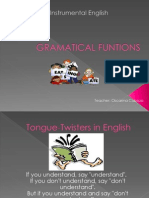 GRAMATICAL FUNTIONS