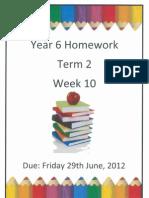 Year 6 Homework - Term 2 Week 10