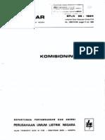 Standard Komisioning PLTG