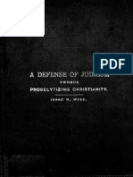 A Defense of Judaism Versus Proselytizing Christianity (1889) Wise, Isaac Mayer, 1819-1900