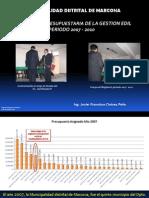 Gestión Presupuestaria de la Municipalidad Distrital de Marcona 2007 - 2010