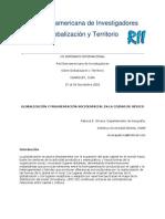 Olivera (2002) Globalización y fragmentación socioespacial en la ciudad de México