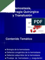 5. Hemostasia, Hemorragia Quirurgica y Transfusion