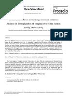 Analysis of Eutrophication of Yangtze River Yibin Section