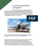 A Close Look at Two Aeronautical Engineering Programs