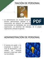 1 ADMINISTRACIÓN DE PERSONAL
