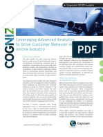 Leveraging Advanced Analytics to Drive Customer Behavior in the Airline Industry