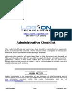Administrators Task List