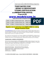 STUDY MATERIAL FOR NISM Depository Operations Exam (DOCE). NISM MOCK TEST AT WWW.MODELEXAM.IN