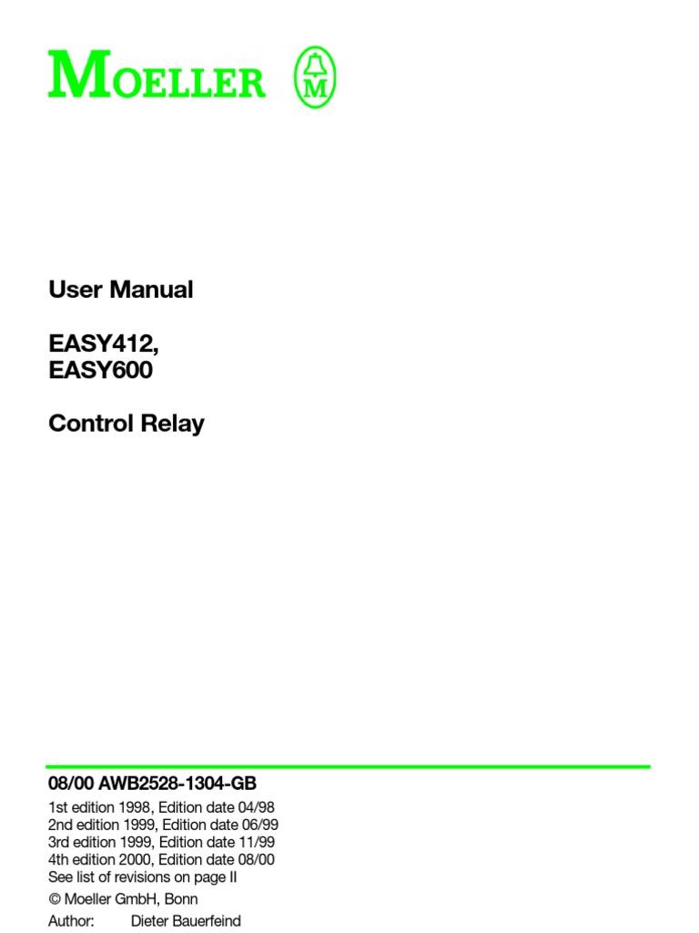 MOELLER EASY412 CONTROL RELAY CAT#EASY412-AC-RCX USED