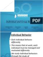 Individual and Group Behavior by Mudur Rahman