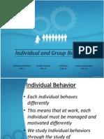 Individual and Group Behavior by Mudur Rahman
