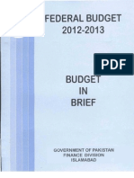 Budget in Brief 2012 13