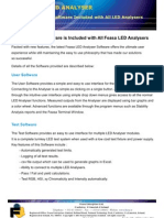 FEASA LED Analyser Software
