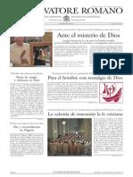 L´OSSERVATORE ROMANO. 24 Junio 2012