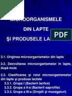 MICROORGANISMELE  DIN LAPTE  ŞI PRODUSELE LACTATE