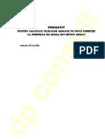 PD 46 - 2001 Calculul Placilor Armate Pe Doua Directii La Poduri