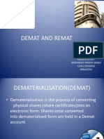 Demat and Remat