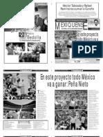 Versión impresa del periódico El mexiquense 25 junio 2012