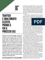 Traffico e smaltimento illecito, prende il via il processo C&C