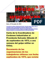 Noticias Uruguayas Lunes 25 de Junio Del 2012