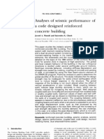 Analyses of Seismic Performance of a Code Designed RC Building